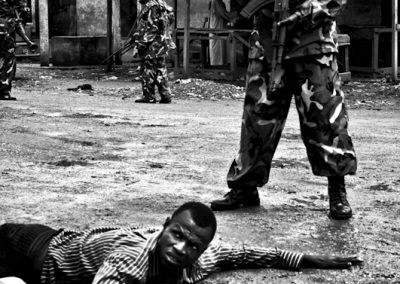 Arresto di un miliziano Seleka.