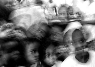 Bambini nel campo profughi di Mpoko.
