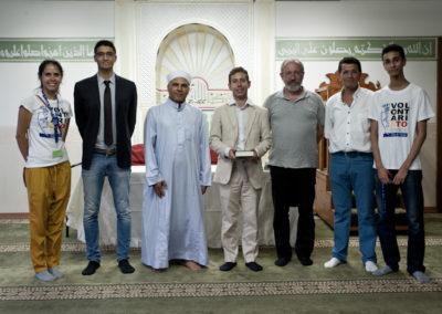 015 L'assessore  Marco Alessandro Giusta in visita alla Moschea Mecca